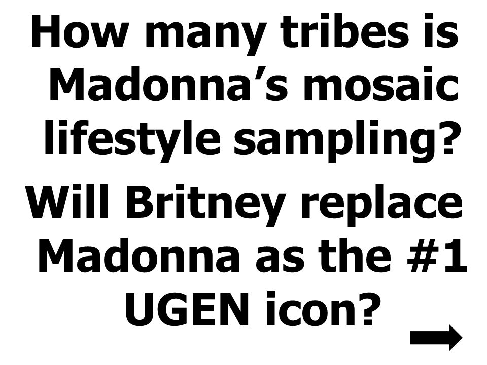 How many tribes is Madonna's mosaic lifestyle sampling.