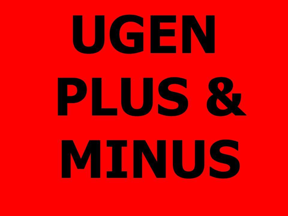 UGEN PLUS & MINUS