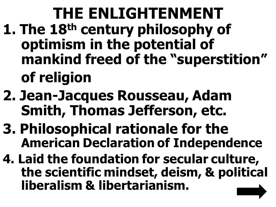 THE ENLIGHTENMENT 1.