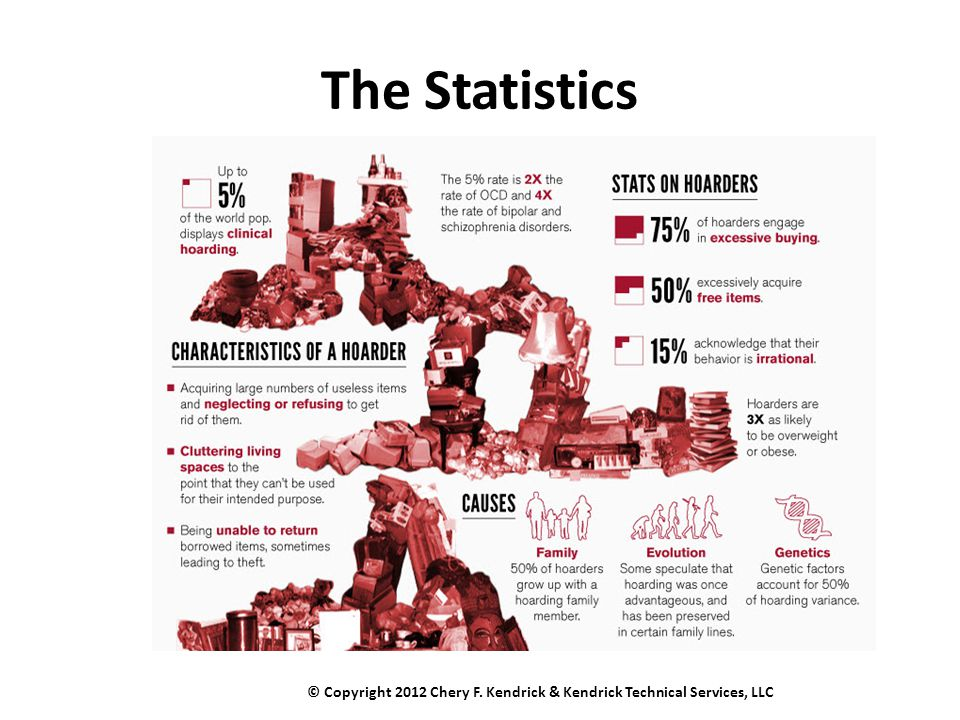 The Statistics © Copyright 2012 Chery F. Kendrick & Kendrick Technical Services, LLC