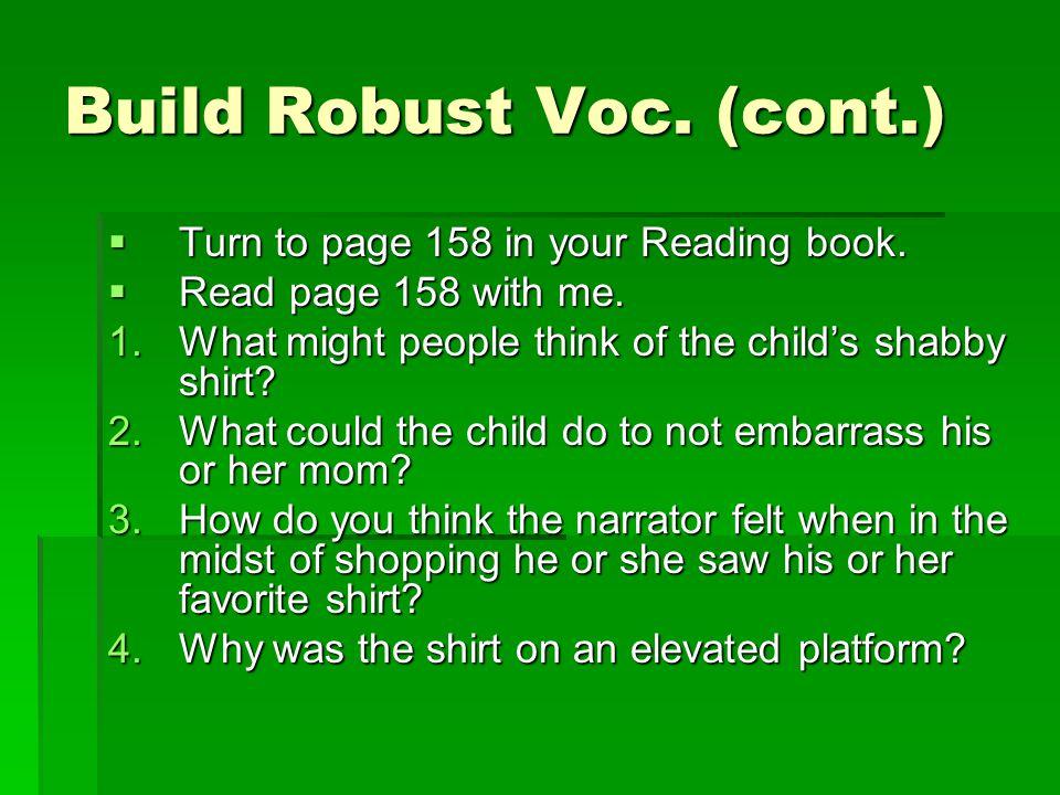 Build Robust Voc.