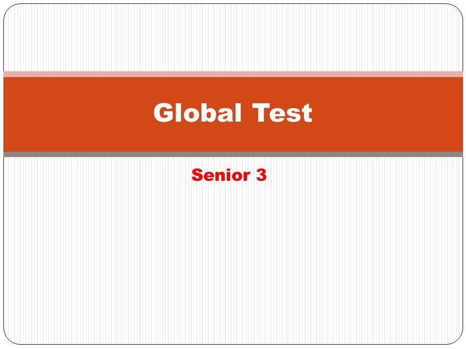 Senior 3 Global Test