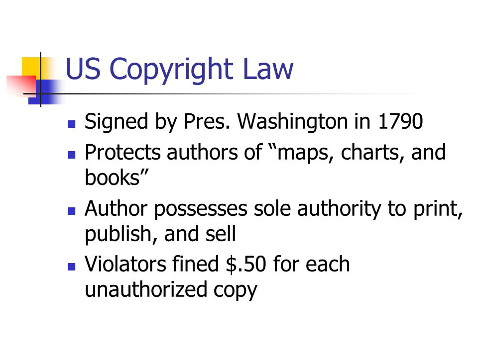 US Copyright Law Signed by Pres.