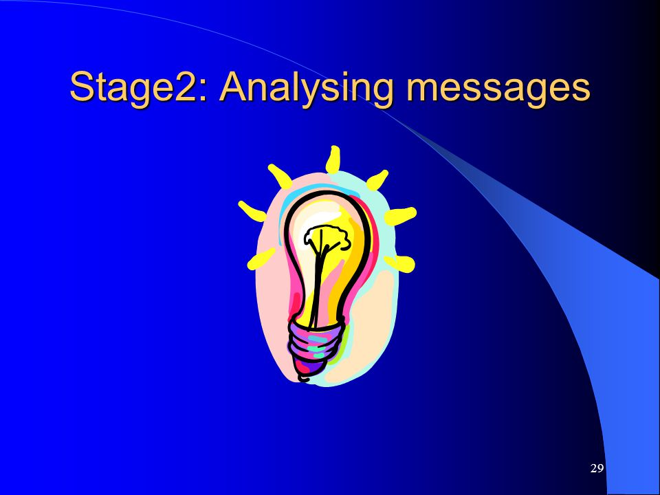 29 Stage2: Analysing messages
