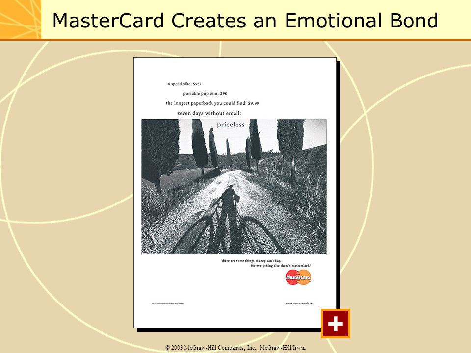 MasterCard Creates an Emotional Bond © 2003 McGraw-Hill Companies, Inc., McGraw-Hill/Irwin +