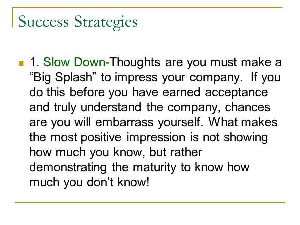 Success Strategies Continued 2.