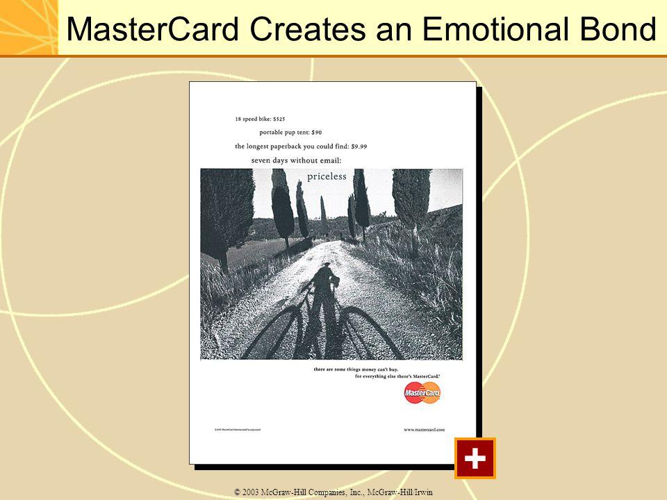 MasterCard Creates an Emotional Bond © 2003 McGraw-Hill Companies, Inc., McGraw-Hill/Irwin +
