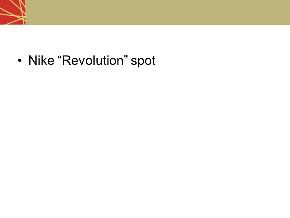 "Nike ""Revolution"" spot"