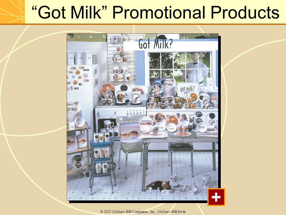 """Got Milk"" Promotional Products © 2003 McGraw-Hill Companies, Inc., McGraw-Hill/Irwin +"