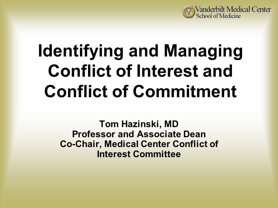 COI in Research Key Points to Remember Conflicts of interest are part of academic life.