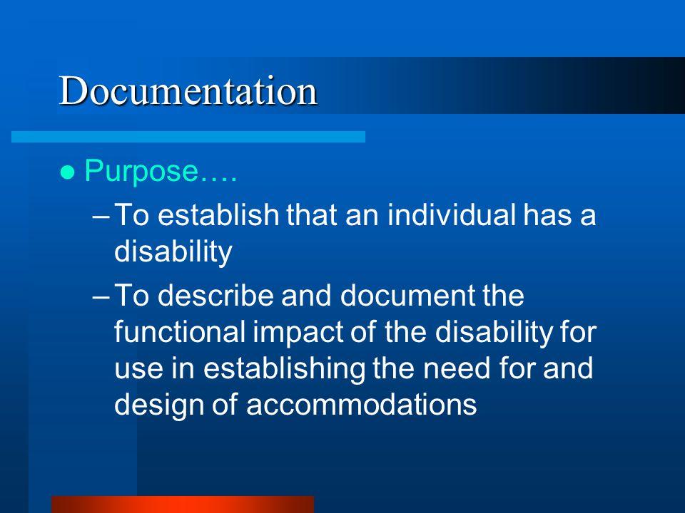 Documentation Purpose….