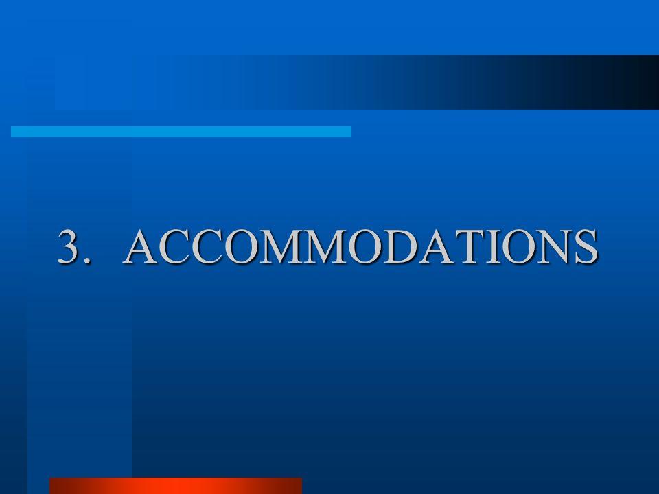 3.ACCOMMODATIONS