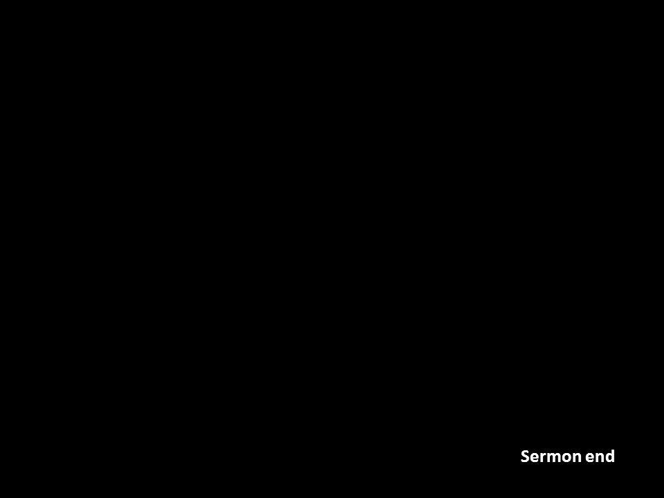 Sermon end