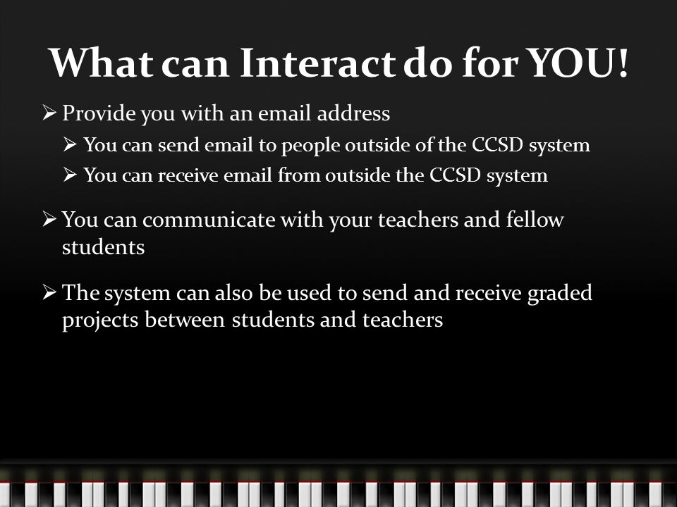 What can Interact do for YOU.