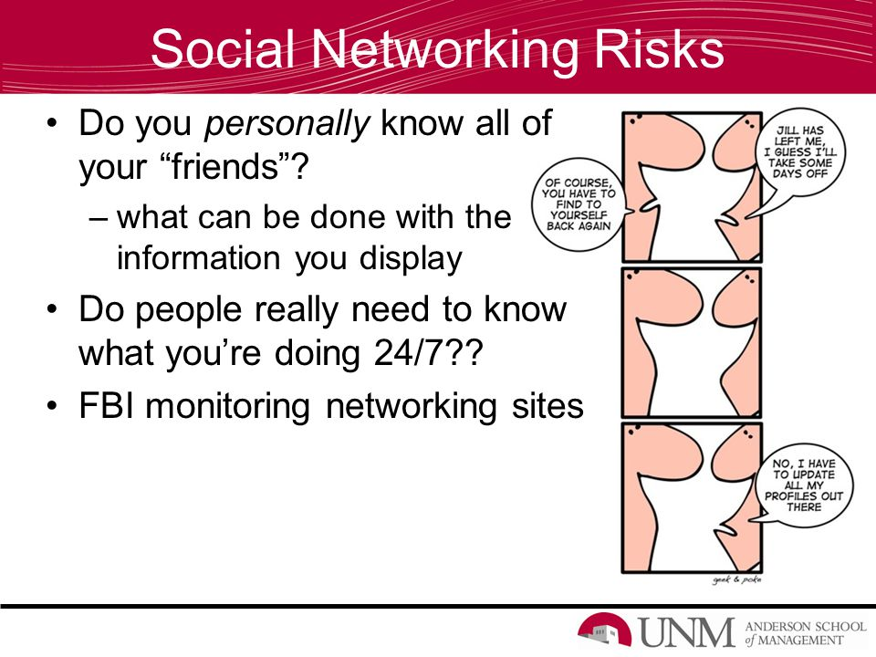 Social Networking Risks Do you personally know all of your friends .