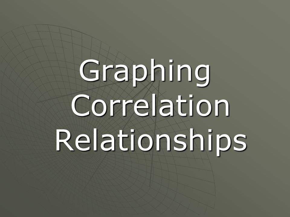 Graphing Correlation Relationships