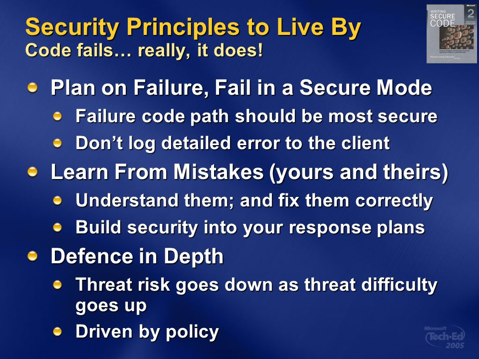 Security Principles to Live By Code fails… really, it does.