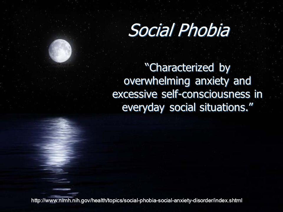 Social Phobia is NOT….