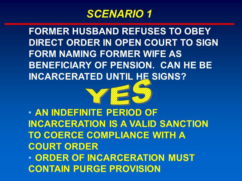 SCENARIO 9 IS DISRUPTION IN HALLWAY OUTSIDE COURT CONTEMPT.