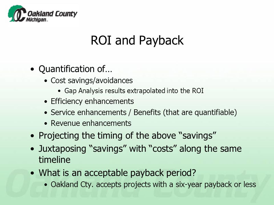 Case Study Oakland County's Presentation to the Board of Commissioners to Secure Approval for a New Financial / Supply Chain / Time & Labor Management System