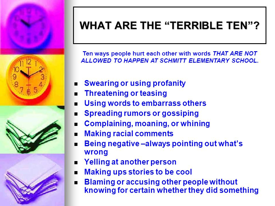 WHAT ARE THE TERRIBLE TEN .