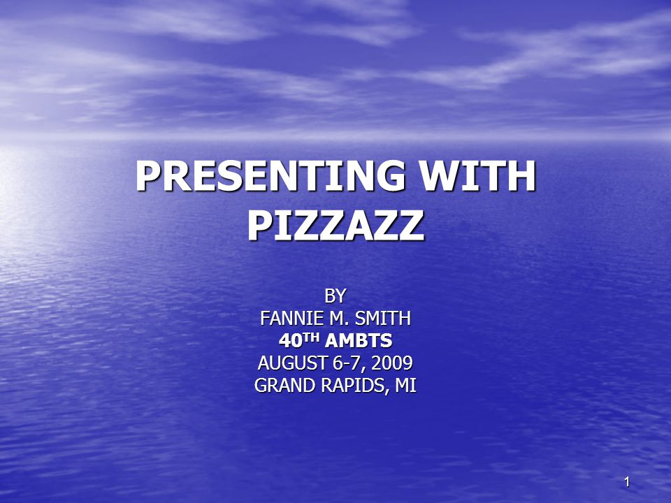 22 PRESENTING WITH PIZAZZ PRESENTING WITH PIZAZZ Ten Sure-Fire Ways To Eliminate Presentation Anxiety cont'd Tip #6 Avoid Caffeinated and Alcoholic Drinks Tip #6 Avoid Caffeinated and Alcoholic Drinks Tip #7 Breathe Tip #7 Breathe Tip #8 Pause and Sip Tip #8 Pause and Sip Tip #9 Make Eye Contact Tip #9 Make Eye Contact Tip #10 Practice, Practice, Practice Tip #10 Practice, Practice, Practice
