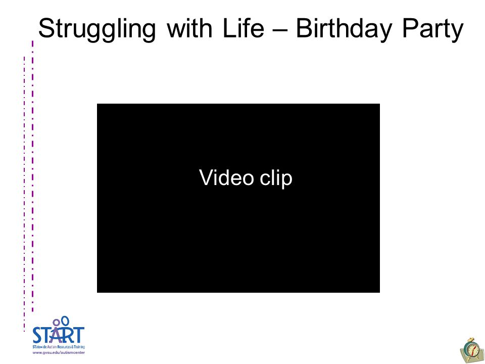 Struggling with Life – Birthday Party Video clip