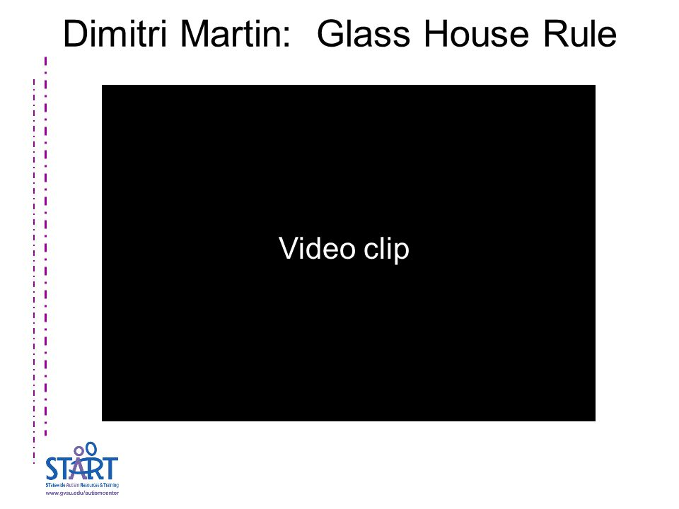 Dimitri Martin: Glass House Rule Video clip