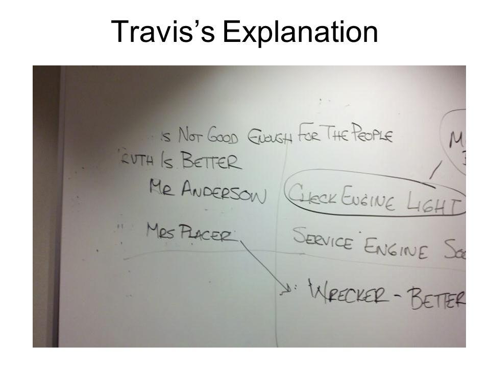 Travis's Explanation