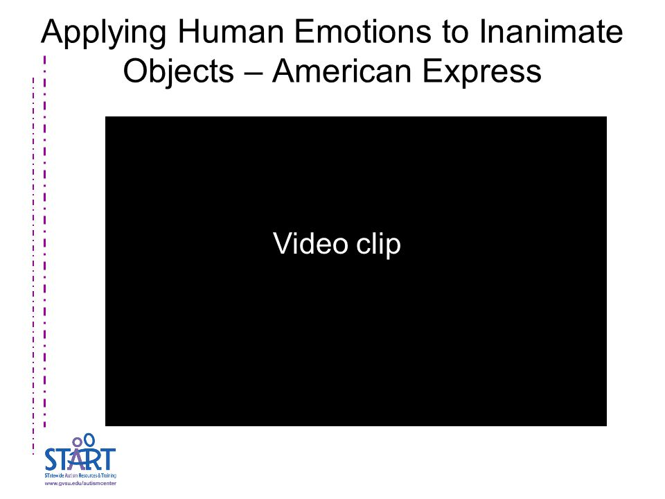 Applying Human Emotions to Inanimate Objects – American Express Video clip