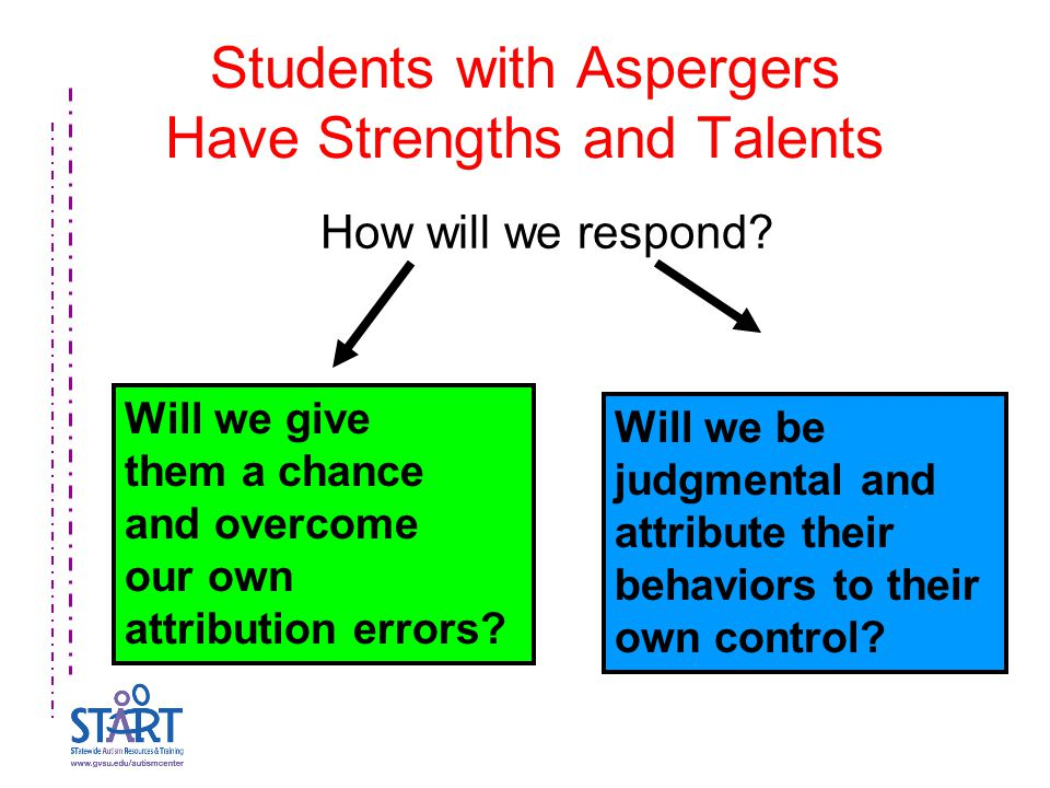 Students with Aspergers Have Strengths and Talents How will we respond.