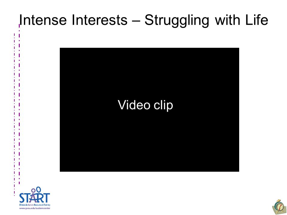 Intense Interests – Struggling with Life Video clip