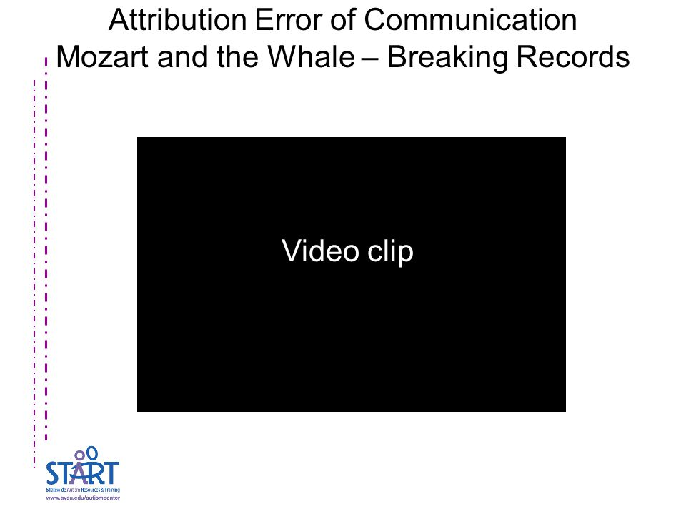 Attribution Error of Communication Mozart and the Whale – Breaking Records Video clip