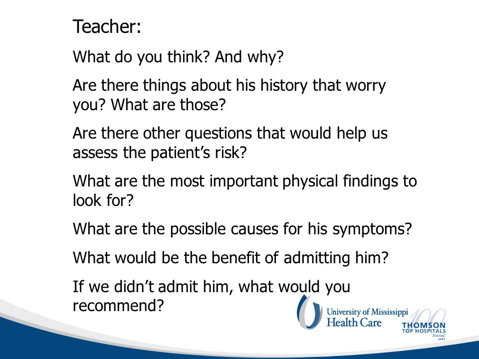 Teacher: What do you think. And why. Are there things about his history that worry you.