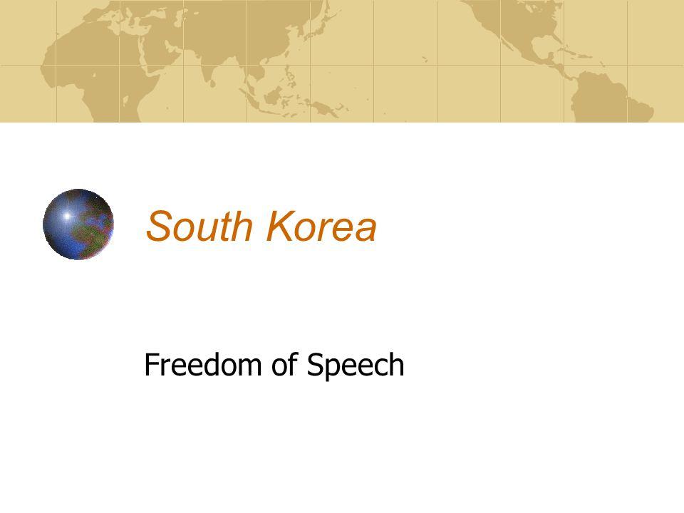 South Korea Freedom of Speech