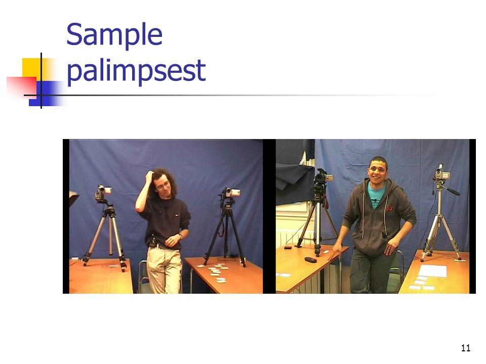 (b)(c)(d)(b)(c)(d) 11 Sample palimpsest