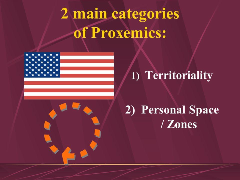 Proxemics The distance conveys a non-verbal message.