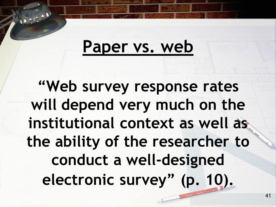 41 Paper vs.