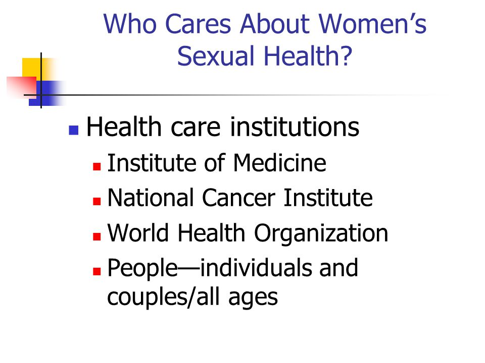 Who Cares About Women's Sexual Health.