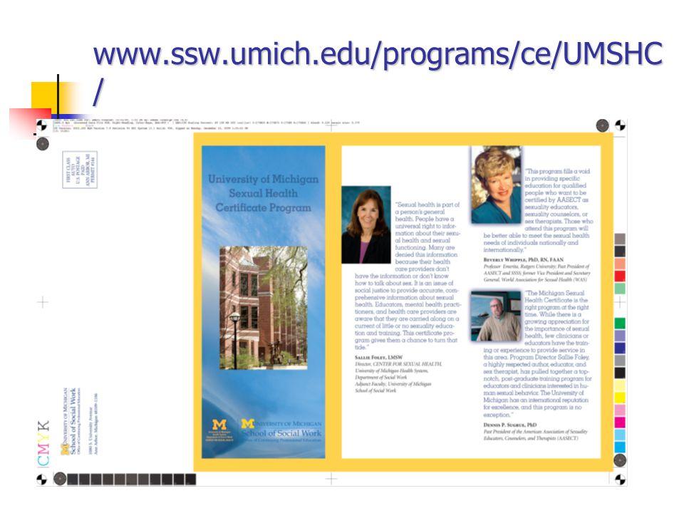 www.ssw.umich.edu/programs/ce/UMSHC /