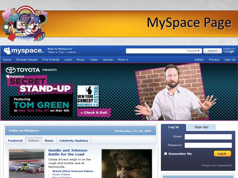 MySpace Page
