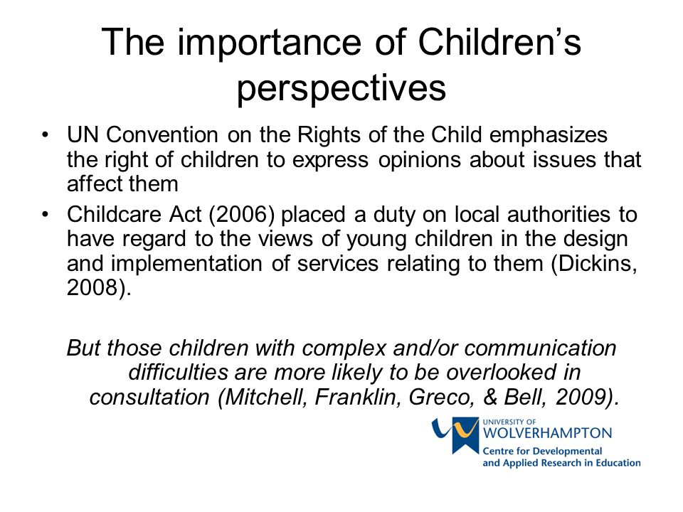 C&YP with ASD as research participants 'gate keepers' could prevent or facilitate their participation: Some schools assumed the children's agreement Other schools were not willing/able to allow access Some parents were supportive in principle but had reservations