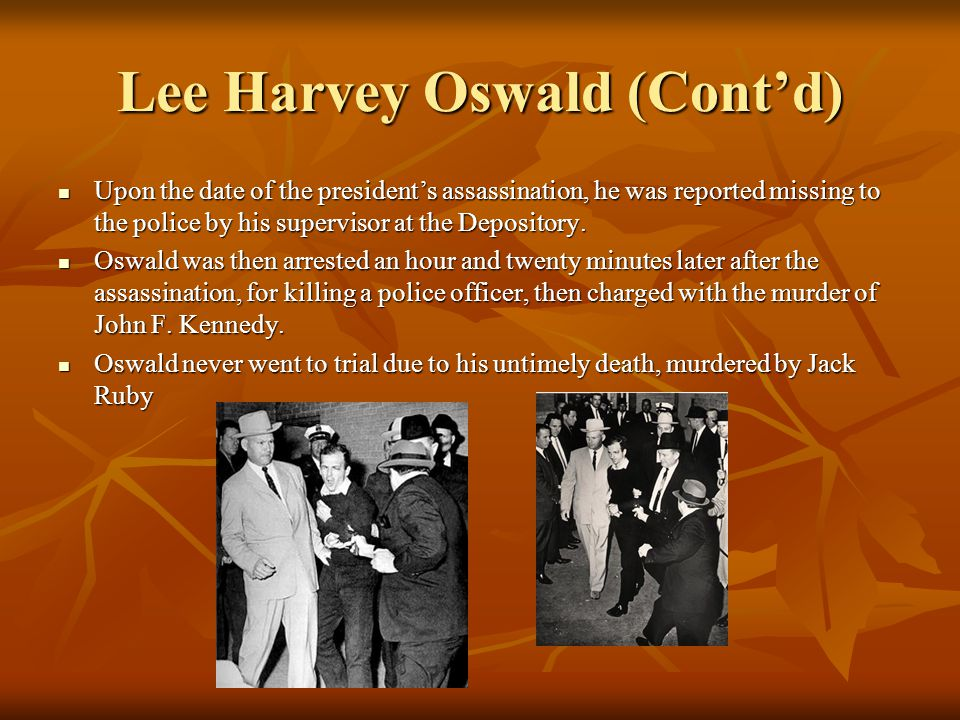 Lee Harvey Oswald Lee Harvey Oswald was the accused assassin of President John F.