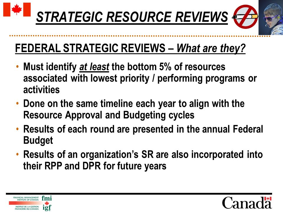 STRATEGIC RESOURCE REVIEWS FEDERAL STRATEGIC REVIEWS – What are they.