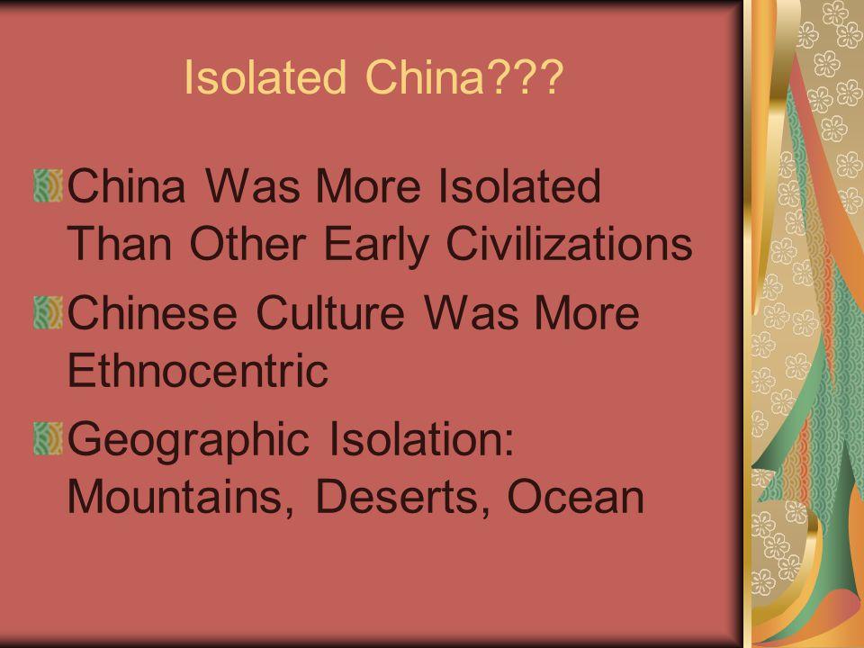 Isolated China .