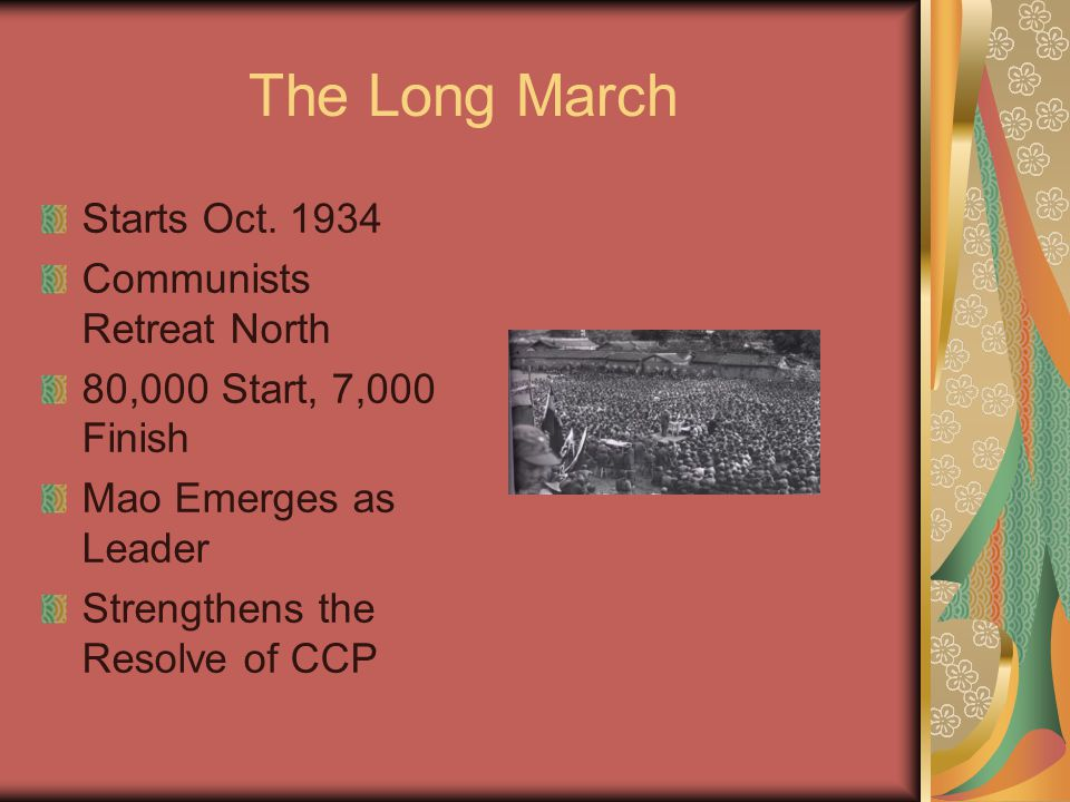 The Long March Starts Oct.