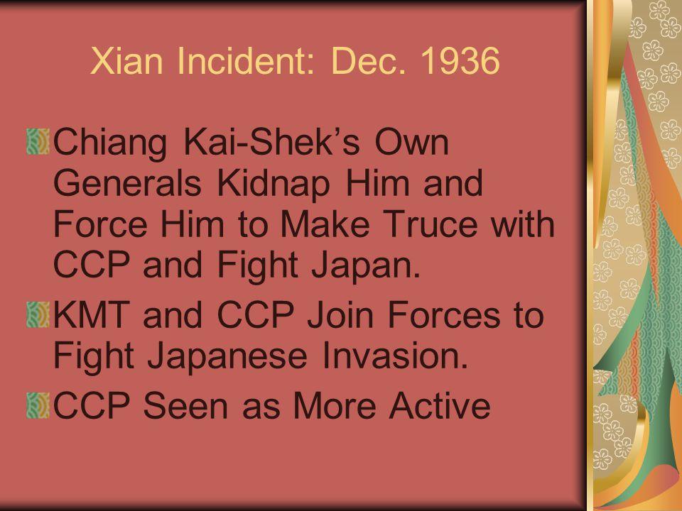 Xian Incident: Dec.