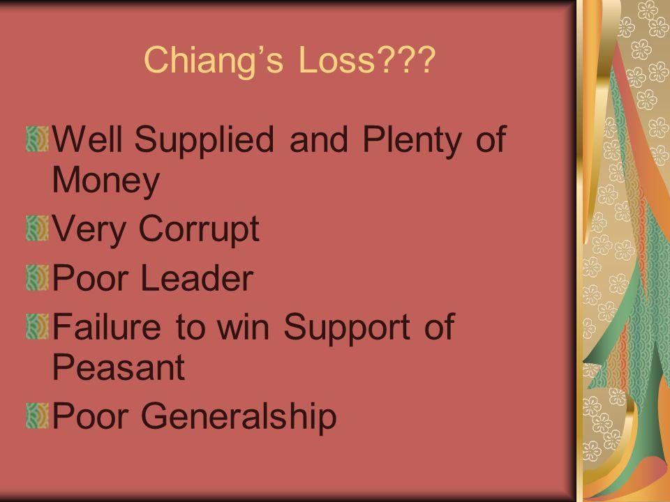 Chiang's Loss .