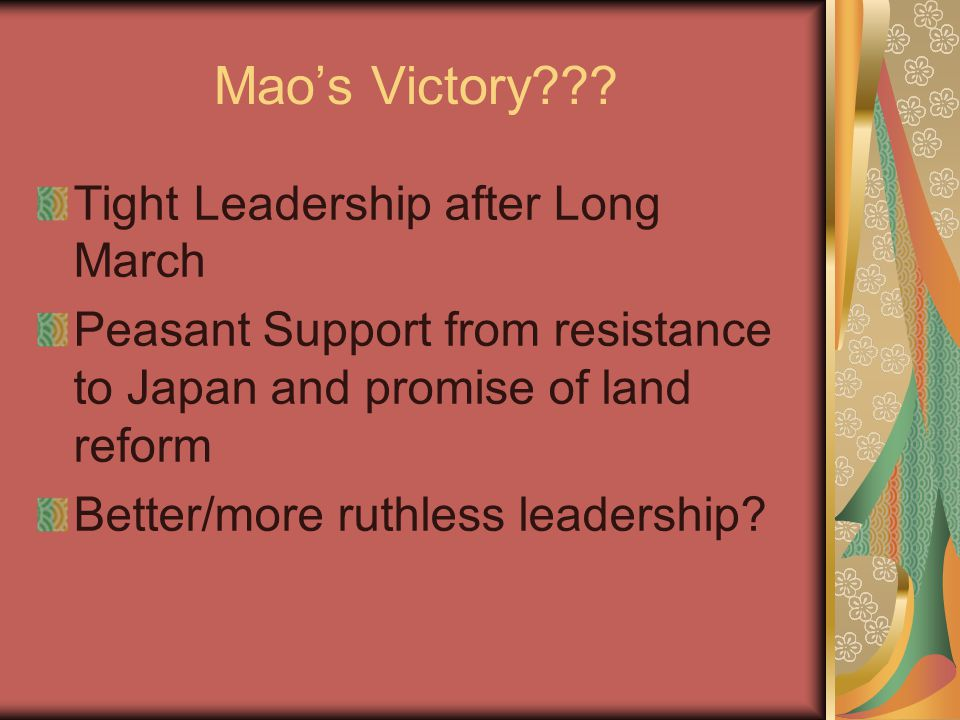 Mao's Victory??.