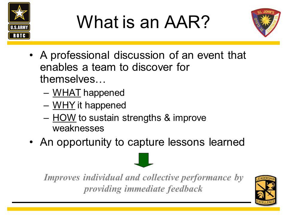 What is an AAR.